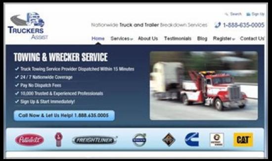 Capture d'écran d'un site dont le bouton d'action ne ressort pas