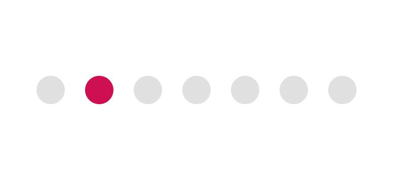 Un point rose au milieu d'un groupe de points gris, démontrant que l'on retient plus facilement celui qui a une caractéristique différente