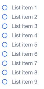 Liste longue = décision difficile